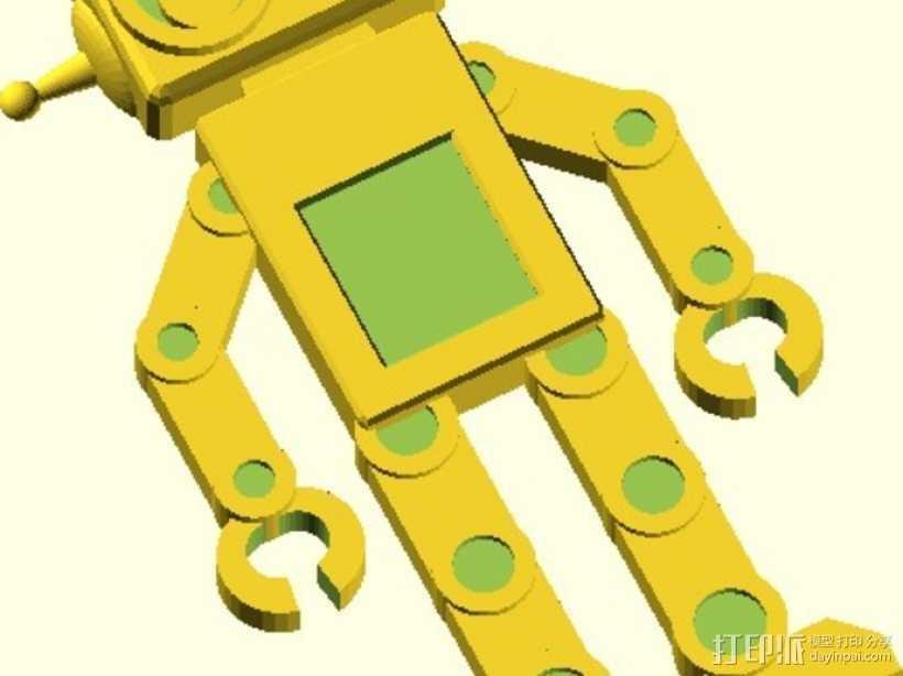机器人吊坠 3D打印模型渲染图