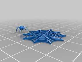 蜘蛛网 耳坠