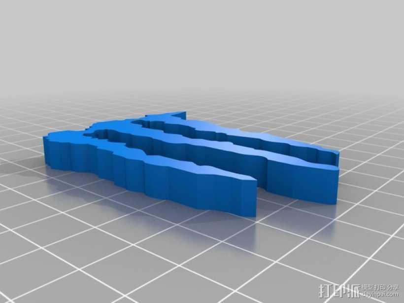 怪物能量 标志 3D打印模型渲染图