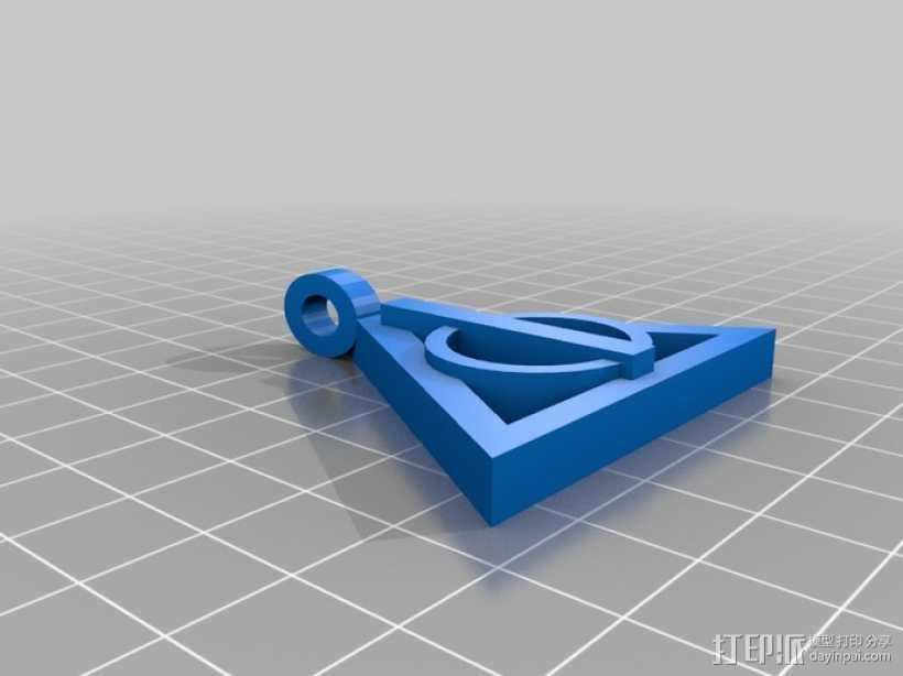 哈利波特项链 3D打印模型渲染图