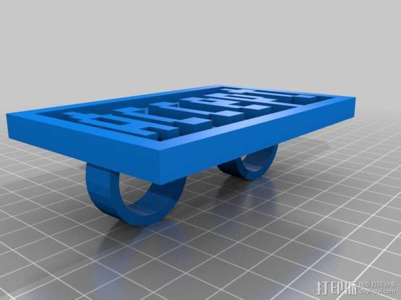 FRC/FTC 手指套环 3D打印模型渲染图