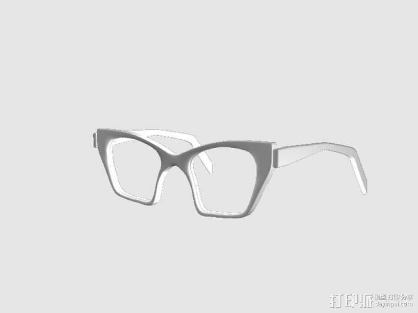 CALGARA眼镜框 3D打印模型渲染图