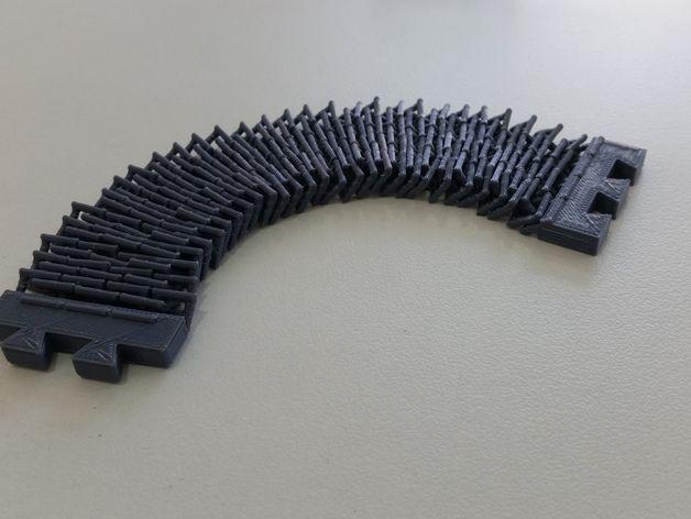 链式手镯  3D打印模型渲染图