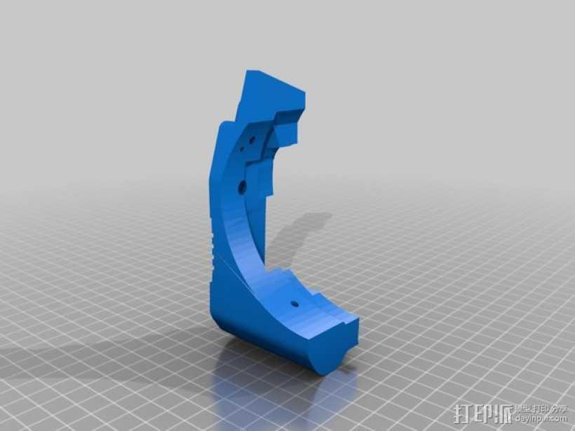 蜻蜓抱握器 侧片模型  3D打印模型渲染图