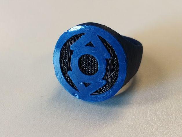 绿灯侠指环 3D打印模型渲染图