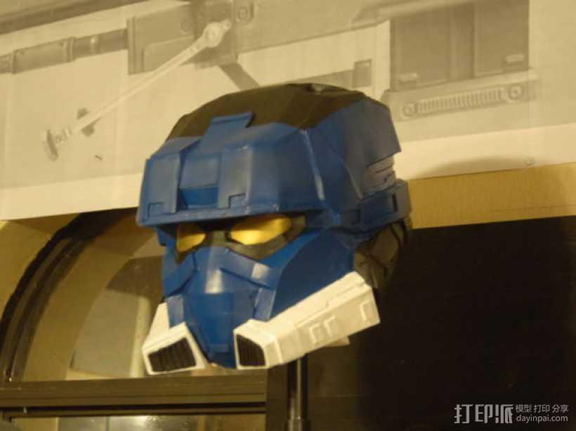 EOD机器人头盔 3D打印模型渲染图