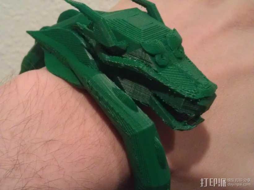 龙头手镯 3D打印模型渲染图