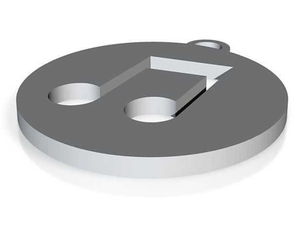 iTunes图标 钥匙坠 3D打印模型渲染图