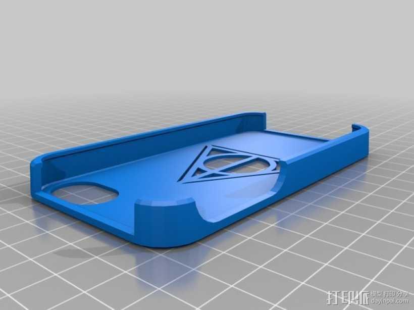 死亡圣器图案 手机套 3D打印模型渲染图