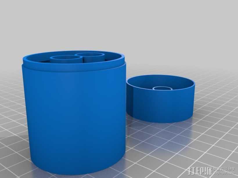 耳机收纳盒 3D打印模型渲染图