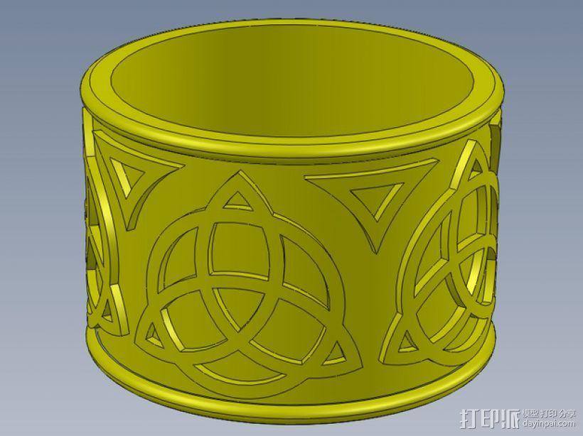 凯尔特风格 戒指 3D打印模型渲染图