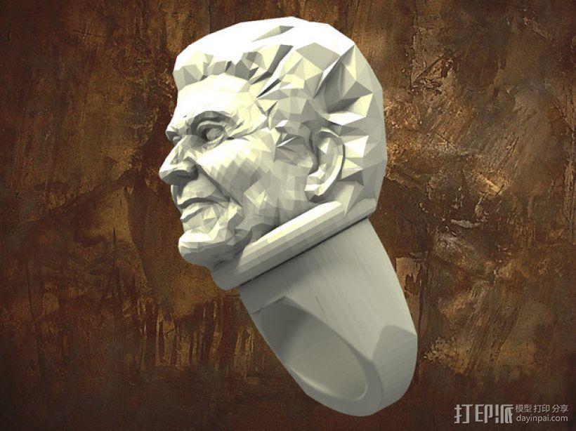 里根 指环 3D打印模型渲染图