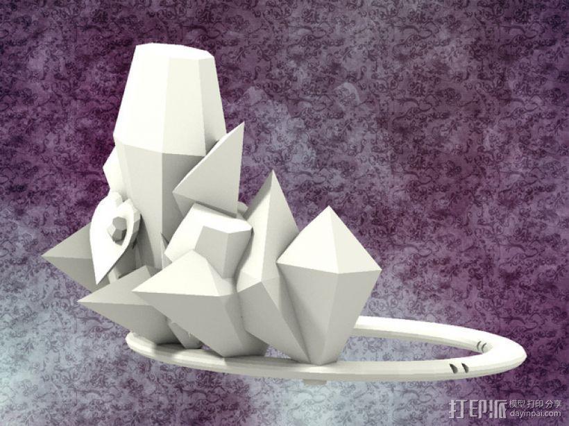 冰雹 王冠 3D打印模型渲染图