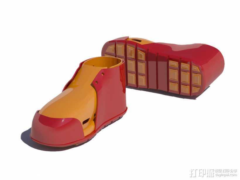 贝壳头鞋子 3D打印模型渲染图