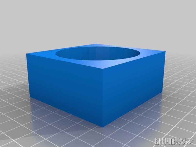 长方体手镯 3D打印模型渲染图