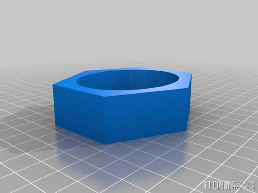 六边体手镯 3D打印模型渲染图
