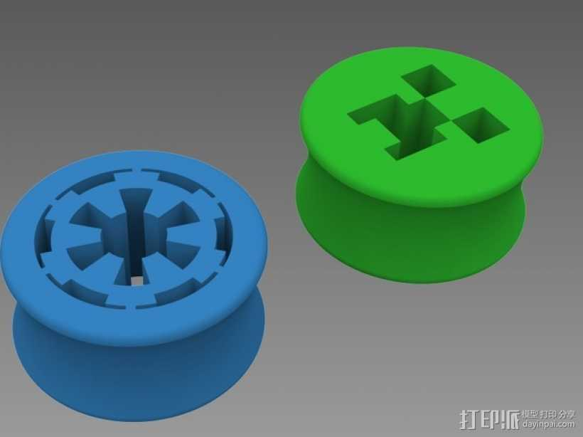 星际大战 耳塞 3D打印模型渲染图