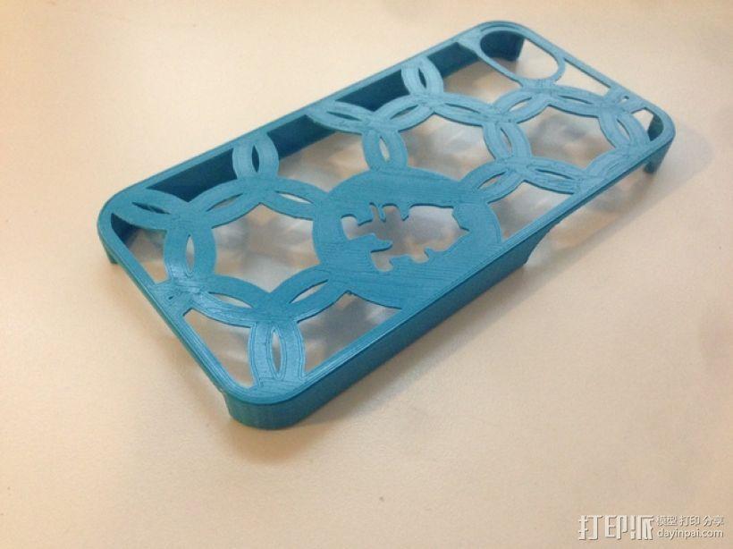怪物猫 iPhone 5手机套 3D打印模型渲染图