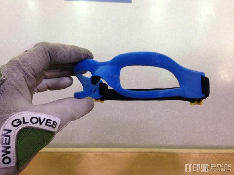 运动护目镜 3D打印模型渲染图