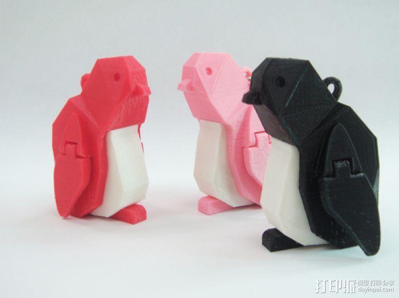 企鹅 吊坠 3D打印模型渲染图