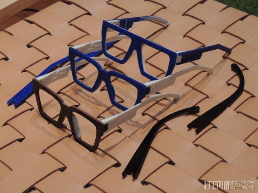 波普风眼镜  3D打印模型渲染图
