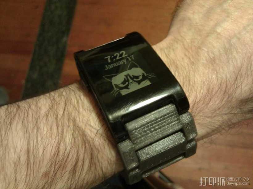 弹簧扣环腕带 手表带 3D打印模型渲染图