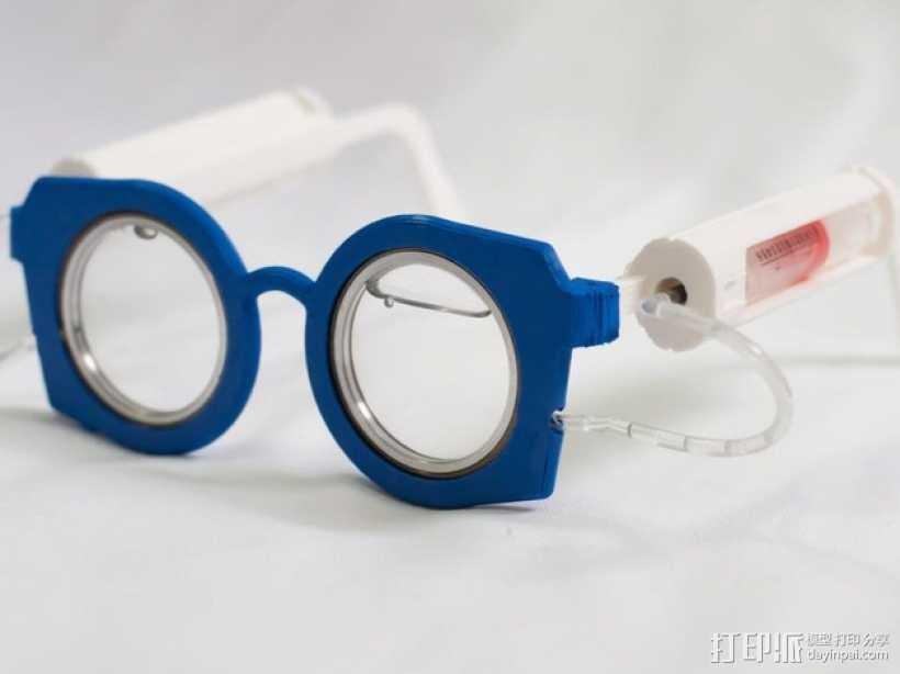 可伸缩眼镜 3D打印模型渲染图