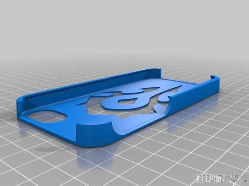 部落风格 iPhone 5 / 5s 手机套 3D打印模型渲染图