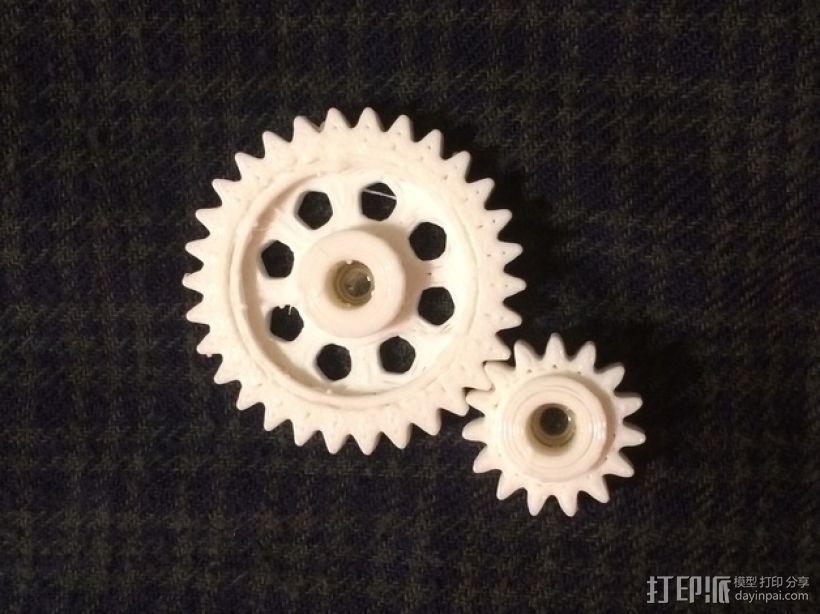 Zheng 3 小齿轮 3D打印模型渲染图