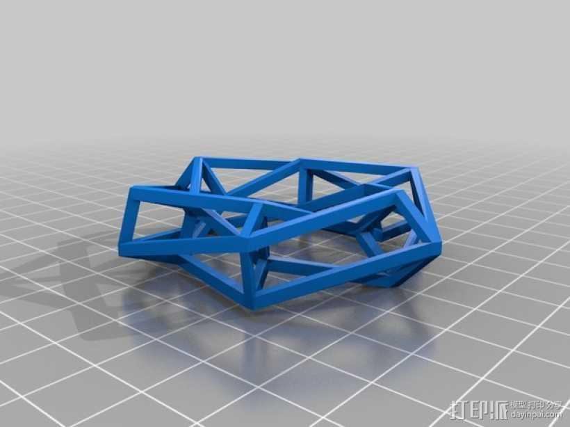 餐巾圈 3D打印模型渲染图