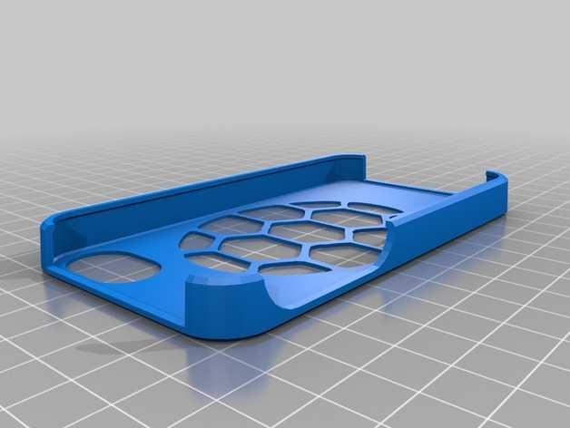 马里兰大学标志  iPhone 4(s) 手机套 3D打印模型渲染图