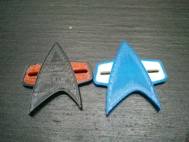 星际迷航 标志 3D打印模型渲染图