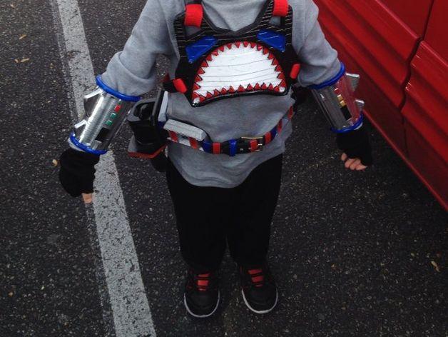 鲨鱼服 3D打印模型渲染图
