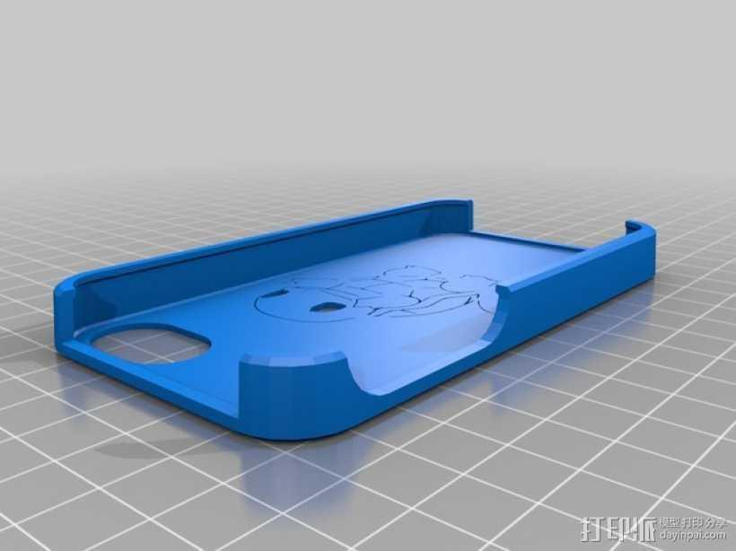 杰尼龟 iPhone 4手机套 3D打印模型渲染图