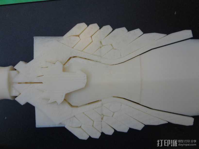 神奇女侠之剑 3D打印模型渲染图