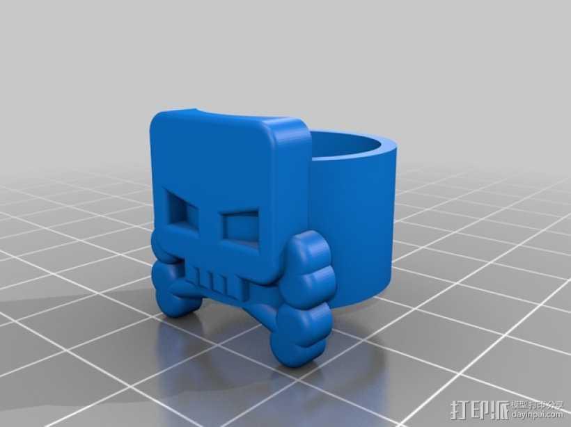 海盗 戒指 3D打印模型渲染图