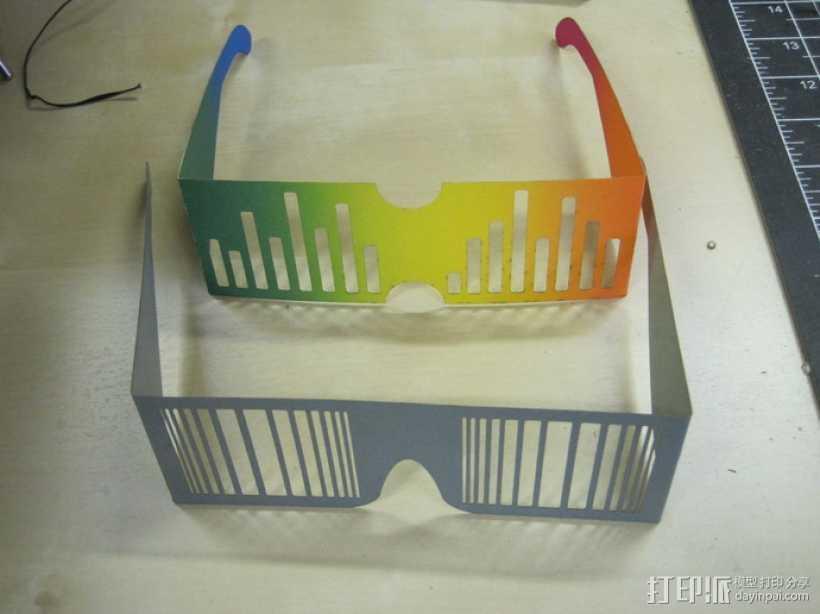 百叶窗 眼镜 3D打印模型渲染图