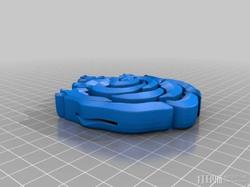 玫瑰 皮带扣 3D打印模型渲染图