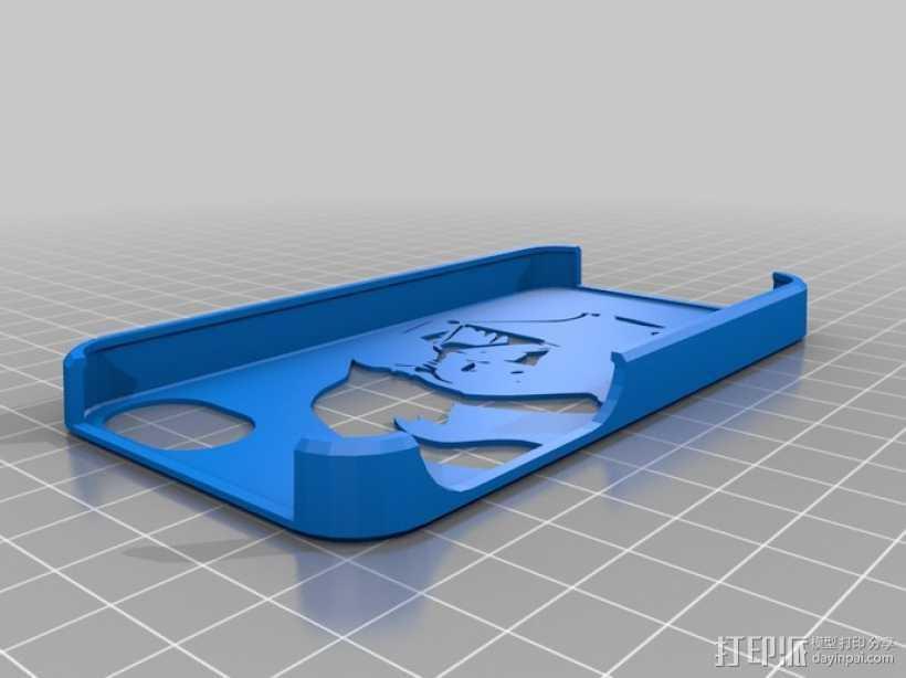 黑武士 iPhone 4S手机套 3D打印模型渲染图