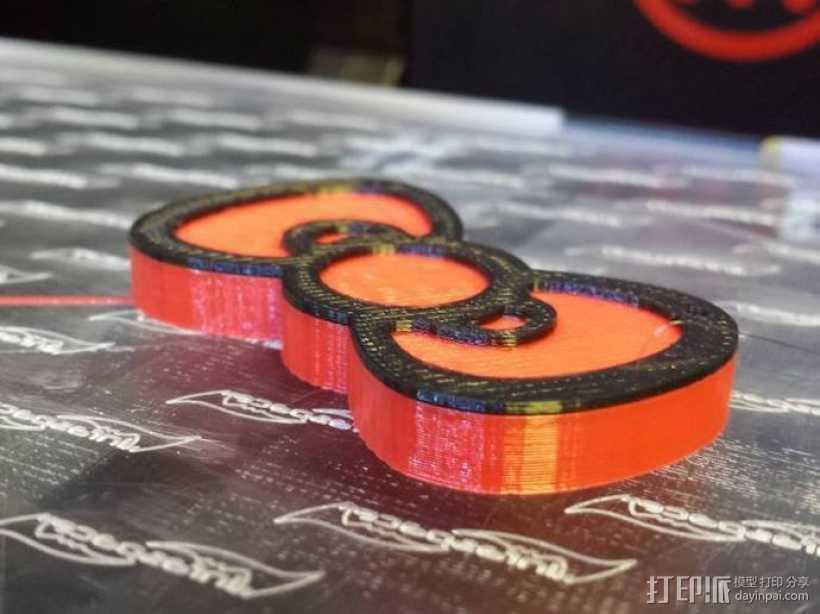 Hello Kitty蝴蝶结吊坠 3D打印模型渲染图