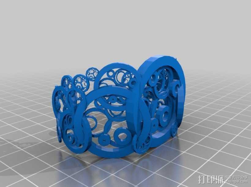 圆环 手镯 3D打印模型渲染图