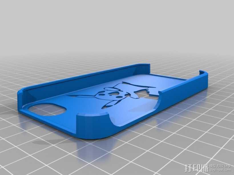 皮卡丘 iPhone手机套 3D打印模型渲染图