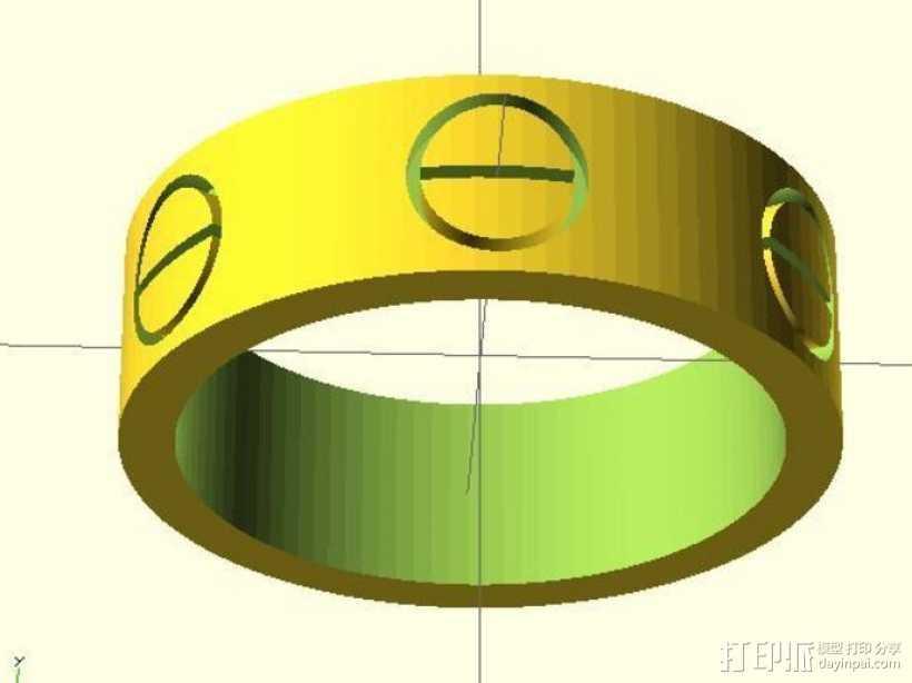 Cartier卡蒂亚戒指 3D打印模型渲染图