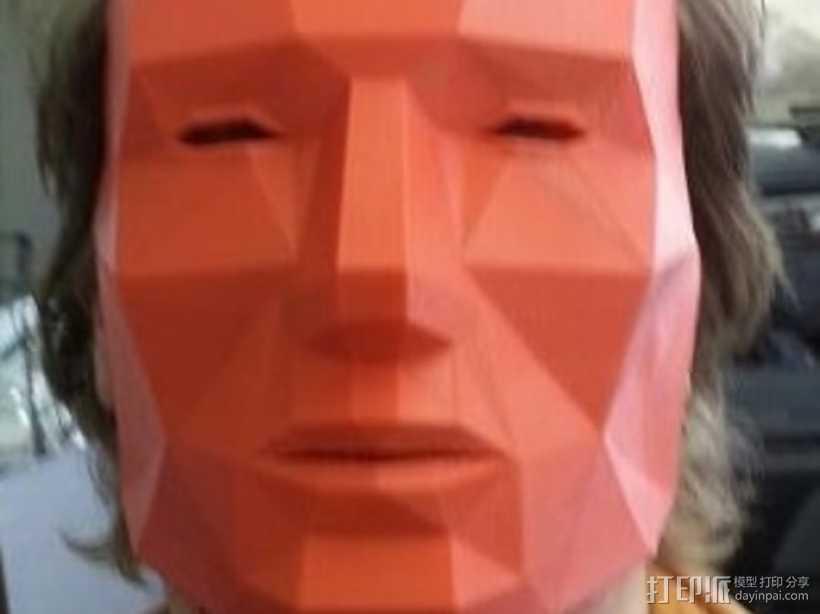 低面数 面具 3D打印模型渲染图