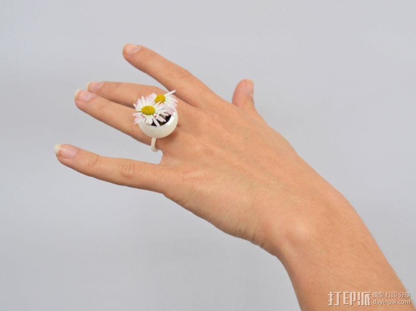 珍珠戒指 3D打印模型渲染图