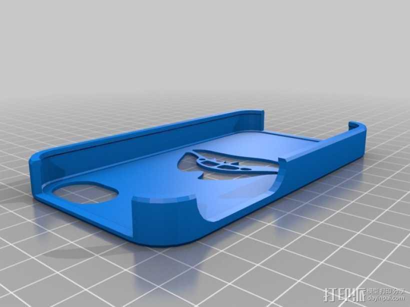 红唇Iphone 4S 手机套 3D打印模型渲染图