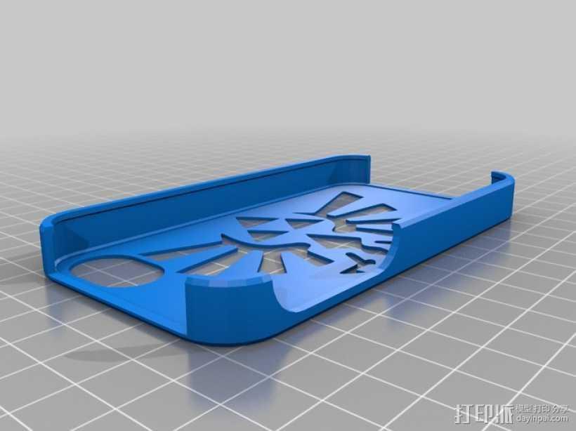 Legend of Zelda塞尔达传说 Iphone 4s手机套 3D打印模型渲染图