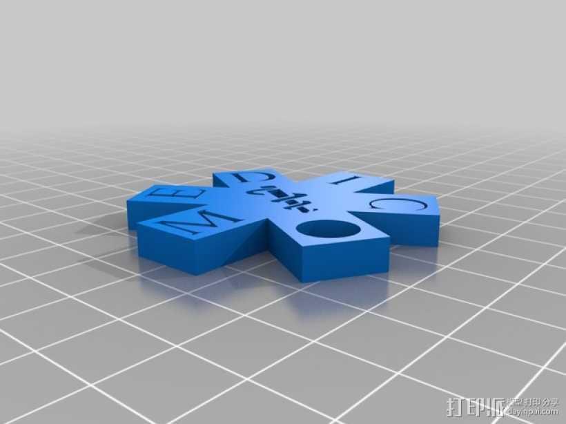 生命之星 吊坠 3D打印模型渲染图