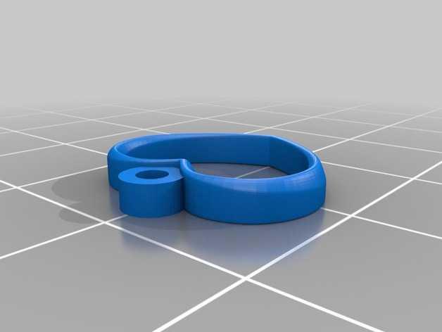 心形耳坠 3D打印模型渲染图