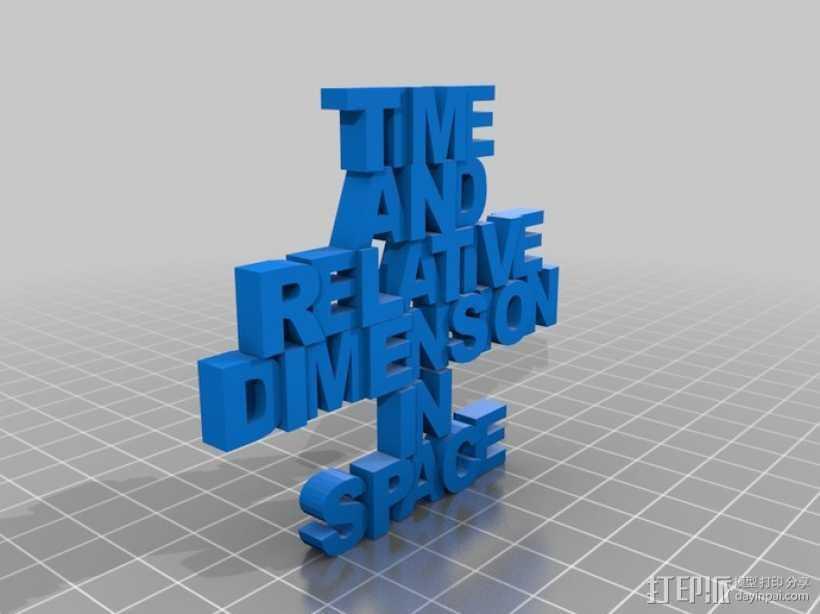 Tardis吊坠 3D打印模型渲染图